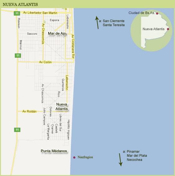 Mapa de Nueva Atlantis