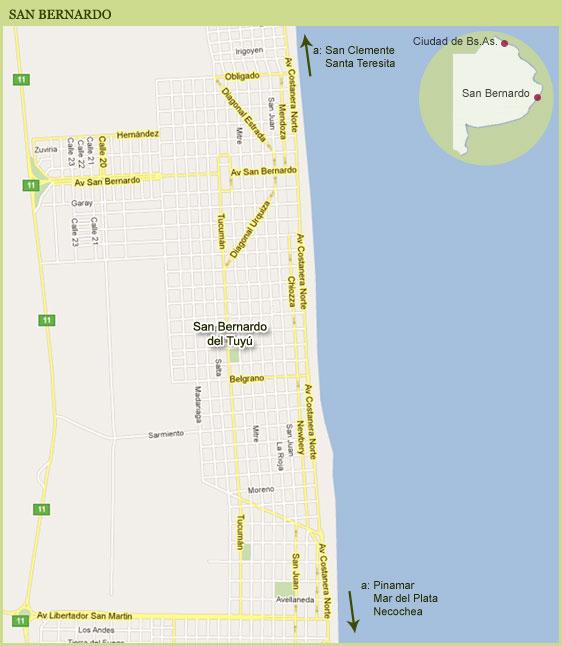 Mapa de San Bernardo