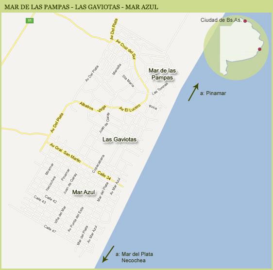 Mapa de Mar de las Pampas