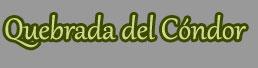 Quebrada del Cóndor