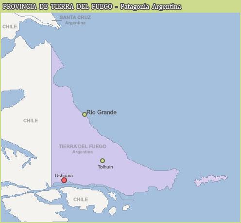 Guía De Turismo En Tierra Del Fuego Ushuaia Río Grande Canal De - Argentina map tierra del fuego